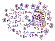 Speedy Ortiz and SAD13's Sadie Dupuis to Guest Host this Friday's Abuela's Pantry @ 2pm
