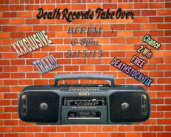 death records on cheetle radio 5/15 @ 6pm