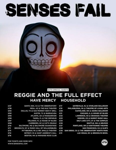 Senses Fail, Reggie & The Full Effect @ Slim's